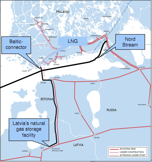 LNG infrastructure baltic finland