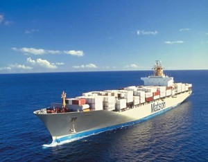A Matson containership.