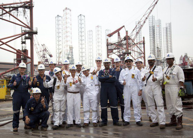 The ABS Surveyor team in Singapore!  Awesome group of guys doing great work.  (c) R.Almeida/gCaptain