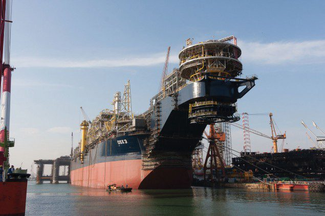 FPSO OSX-3 pictured at her May 31, 2013 naming ceremony in Singapore. Photo credit: OSX
