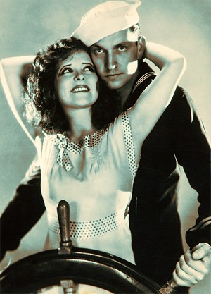 Clara Bow and Fredric March in True to the Navy