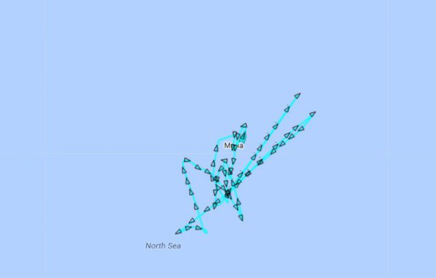 AIS data for the Maria, last updated about 16 hours ago as of 11:40 EST. Data provided by MarineTraffic.com