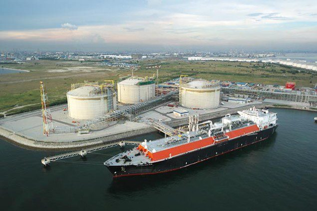 File photo of the Singapore LNG Terminal at Jurong Island in Singapore.  Image courtesy of Singapore LNG Corporation