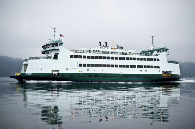 File photo of one of three new 64-car Olympic-class ferries built and assembled for Washington State Ferries at Vigor. Photo courtesy Vigor Industrial