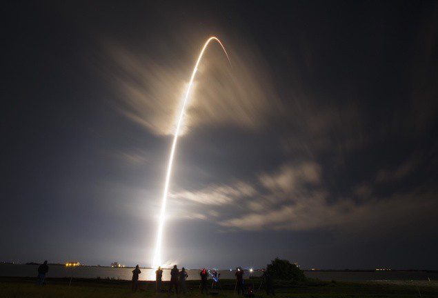 The unmanned Falcon 9 rocket launched by SpaceX, on a cargo resupply service mission to the International Space Station, lifts off from the Cape Canaveral Air Force Station in Cape Canaveral, Florida January 10, 2015. REUTERS/Scott Audette