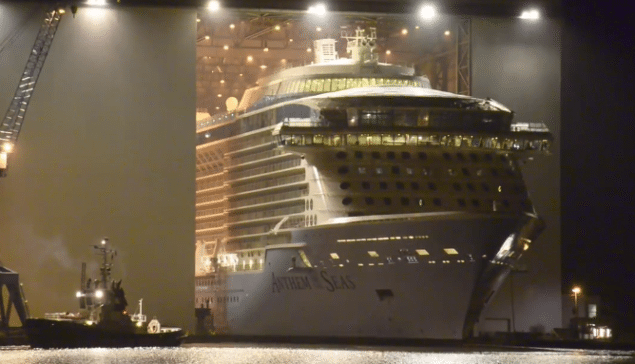 Anthem of the Seas float-out