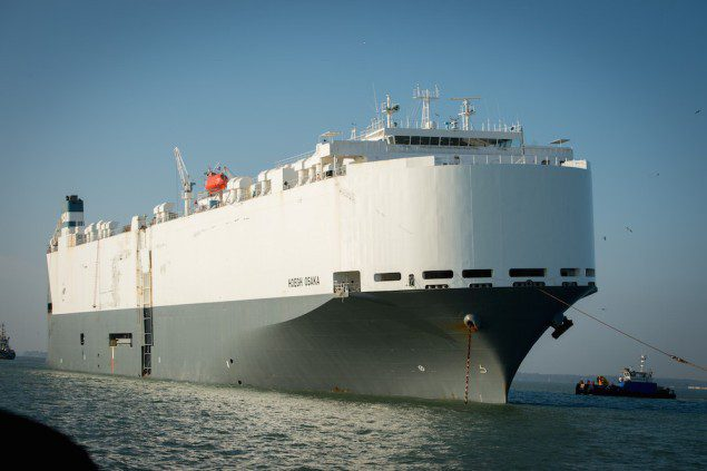 Undated photo of the Hoegh Osaka car carrier courtesy Hoegh Autoliners