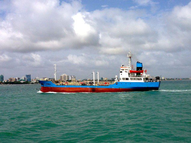 A ship departs Port of Dar es Salaam. FIle photo via Wikimedia Commons