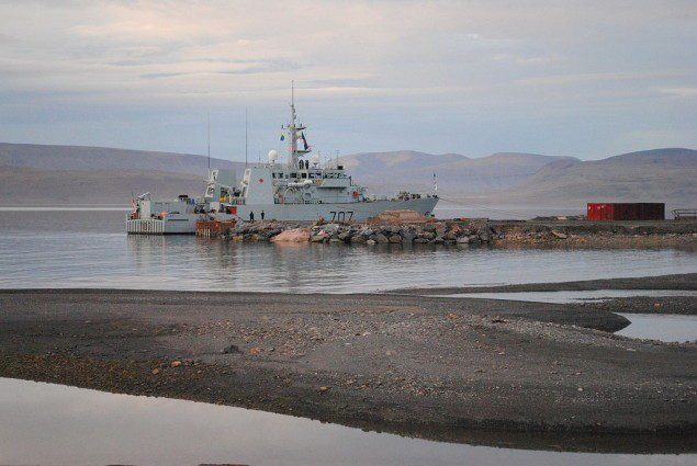 HMCS GOOSE BAY at Nanisivik. Wikimedia Commons