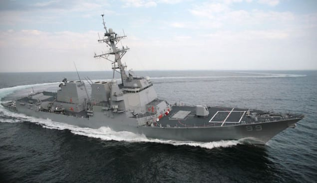 USS Farragut was sent Monday to monitor the situation with the MV Maersk Tigris. Photo: Creative Commons
