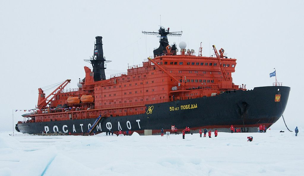 Russia's '50 let Pobedy' is currently the world's largest icebreaker, displacing over 25,000 tons. Photo: Creative Commons