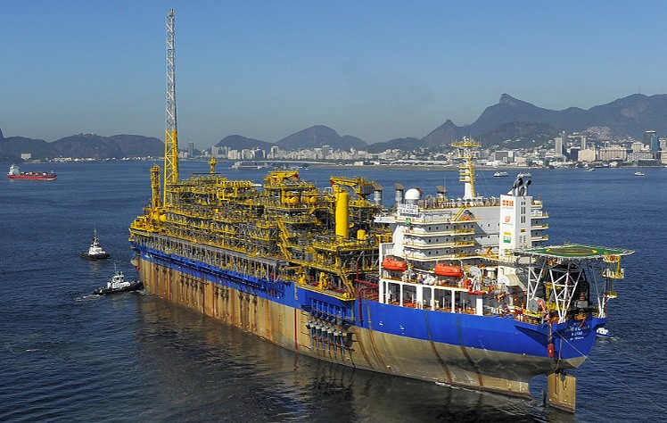BG Group's Cidade de Ilhabela floating production, storage and offloading (FPSO) vessel, the second unit deployed on the Sapinhoá field and the fifth FPSO to come onstream with BG Group as partner in the pre-salt Santos Basin, offshore Brazil. Photo: BG Group