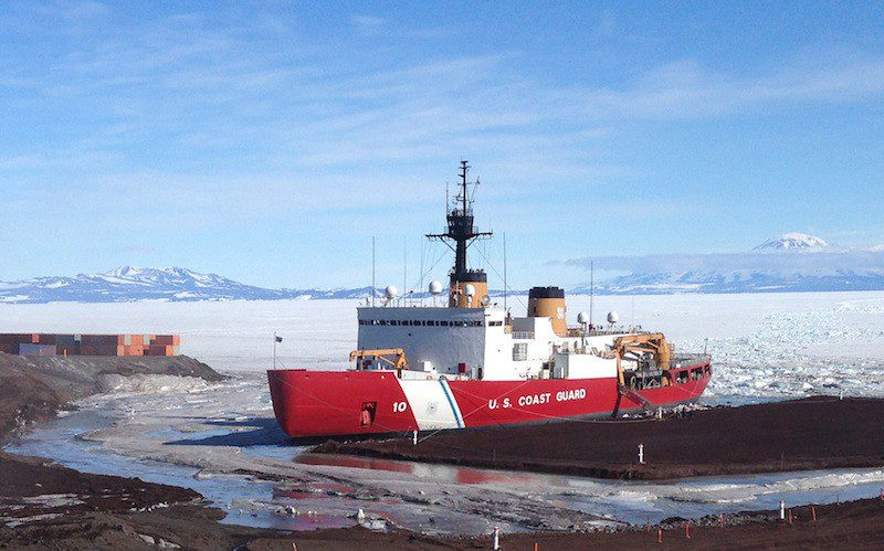 The Coast Guard Cutter Polar Star is the United States only operational heavy icebreaker. U.S. Coast Guard Photo