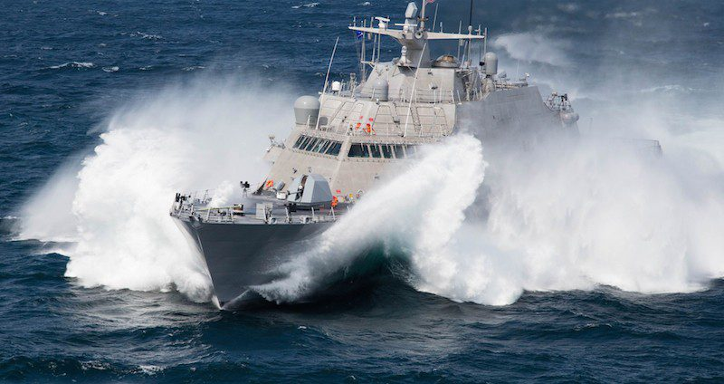 The Freedom-class USS Milwaukee (LCS 5) during sea trials in September. Photo: Lockheed Martin