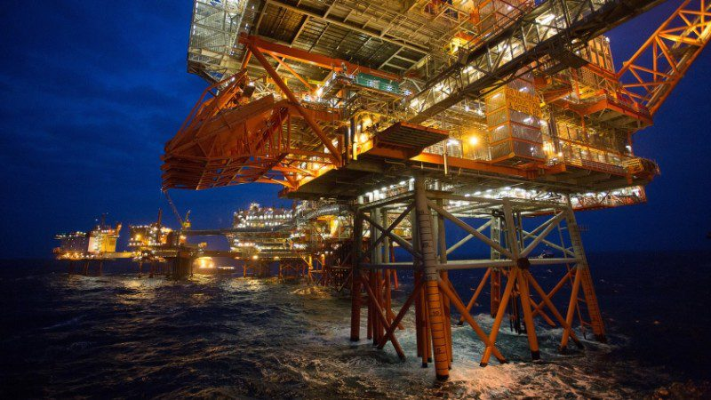 The BP operated Valhall oil field is located in 70 meters of water in the southern Norwegian North Sea. Photo: BP