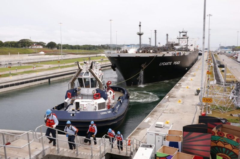 Lycaste Peace in the Panama Canal's new locks, June 27, 2016. Photo: ACP