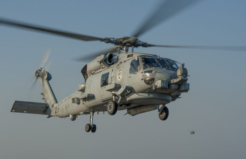 U.S. Navy file photo shows a MH-60R Seahawk helicopter. U.S. Navy Photo