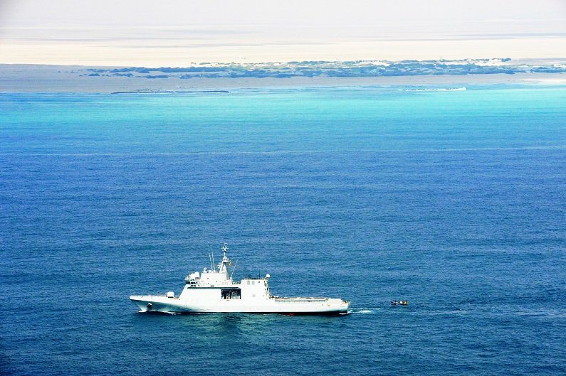 ESPS Relampago patrols the waters off Somalia as part of EUNAVFOR Somalia Operation Atalanta. Photo credit: EU NAVFOR
