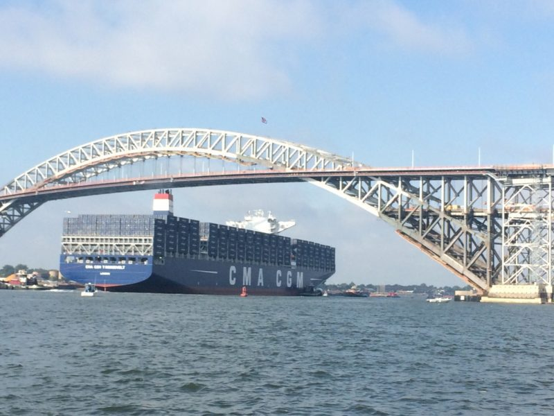 bayonne bridge big ships