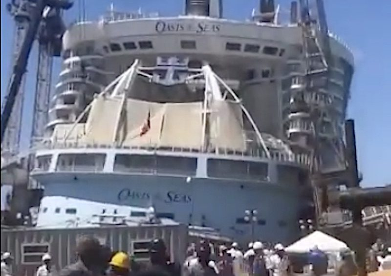 oasis of the seas shipyard accident