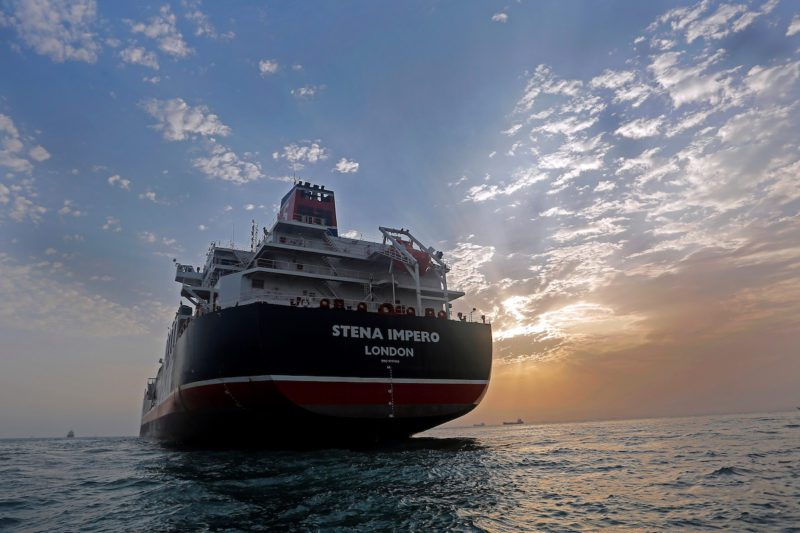 Stena Impero, a British-flagged vessel owned by Stena Bulk, is seen at Bandar Abbas port