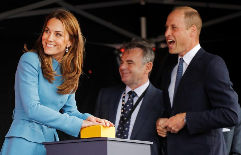 Britain's Prince William and Catherine, Duchess of Cambridge, attend ship naming ceremony in Birkenhead