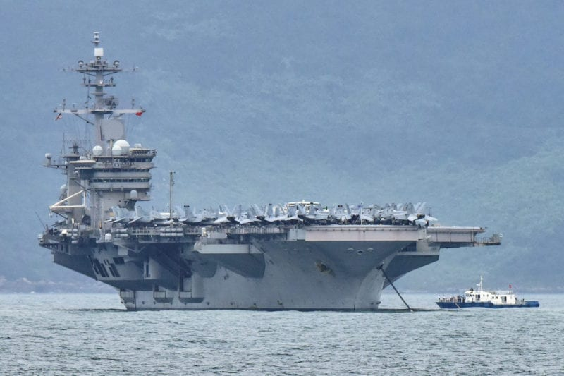 Rapid increase in cornavirus cases on board an American aircraft carrier