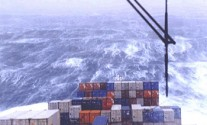 container ship containership storm