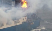 Cargo Ship Catches Fire Near Iceland [PHOTOS]
