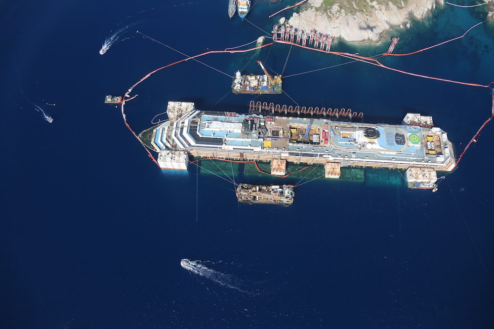 15 Spectacular Photos Of The Refloated Costa Concordia
