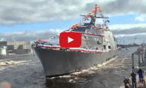 Video: Future USS Detroit (LCS 7) Launched at Marinette Marine