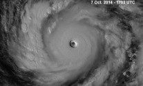 Super Typhoon Vongfong Packing 189 MPH Wind Gusts in Western Pacific