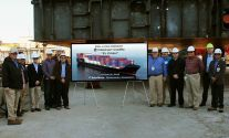 Keel Laid for Crowley's First LNG-Powered ConRo