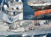 UPDATE: US Navy Destroyer Collides With Container Ship