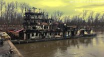 Fire Ravages Towing Vessel on Lower Mississippi River Near Vicksburg
