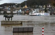 Rhine Reopens To River Shipping After Flood