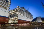 Images: Shipbuilders Lengthen Luxury Cruise Ship by 15-Meters