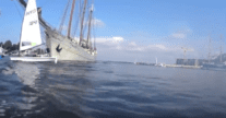Watch: Tall Ship Hits Small Sailing Dinghy