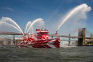 Ship Photos: Historic NYC Fireboat John J Harvey Gets Dazzled