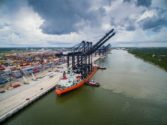 New Super Post-Panamax Cranes Arrive at Port of Houston