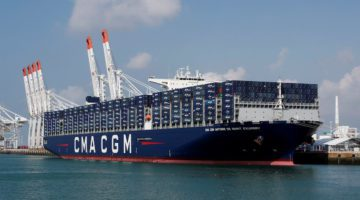CMA CGM Takes Delivery of France's Biggest Ship, the 20,600 TEU 'Antoine De Saint Exupery '