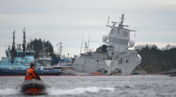 Norwegian Frigate Intentionally Grounded Collision with Oil Tanker